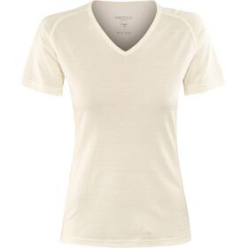 Devold Breeze V-hals T-shirt Dames, offwhite